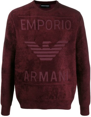 Emporio Armani Embossed Logo Fleece Sweatshirt