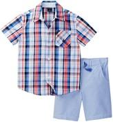 Nautica 2-Piece Plaid Shirt & Woven Short Set (Toddler Boys)