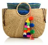 JADEtribe Tassel Pom-Pom Beach Basket