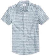 GUESS Men's Slub Stripe Cotton Shirt