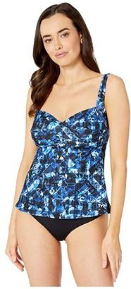TYR Makai Twist Bra Tankini (Blue) Women's Swimwear