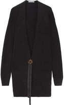 Helmut Lang Oversized Wool And Cashmere-blend Cardigan - Charcoal
