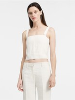 Calvin Klein Herringbone Linen Bustier Top