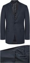 Ermenegildo Zegna - Blue Slim-fit Micro-checked Wool Suit
