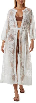 Melissa Odabash Yasmin Long Lace Coverup Kimono
