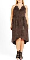 City Chic Plus Size Women's Faux Suede High/low Dress