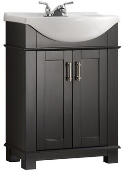 Fresca Cambria 24 Single Bathroom Vanity Base Finish Black Shopstyle Furniture