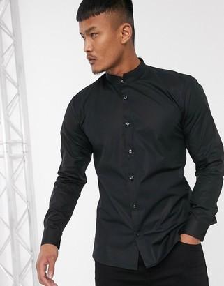 HUGO Elvorini slim fit shirt in black