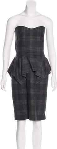 Gucci Wool Peplum Dress
