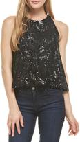 Everly Black Sequins Top