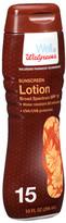 Walgreens Sunscreen Lotion SPF 15