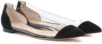 Gianvito Rossi Exclusive to mytheresa.com a Plexi patent-leather ballet flats