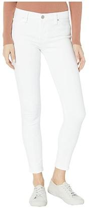 Hudson Nico Mid-Rise Super Skinny Ankle in White (White) Women's Jeans