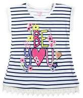 Nannette Little Girl's Be You Striped Graphic Tee