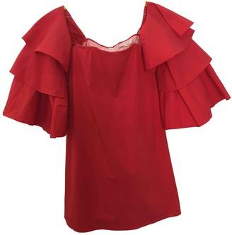 Caroline Constas Red Cotton Dresses
