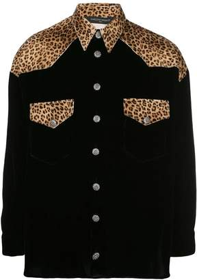 Buttoned Down Garcons Infideles black and velvet leopard shirt