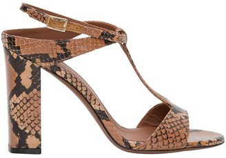 L'Autre Chose Lautre Chose LAutre Chose 95 Mm Heeled Sandals In Python Print Leather