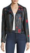 Elie Tahari Mae Floral Leather Jacket