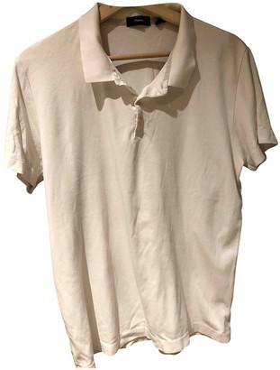 Theory White Cotton Polo shirts