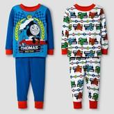 Thomas & Friends Boys' 4-Piece Cotton Pajama Set Blue