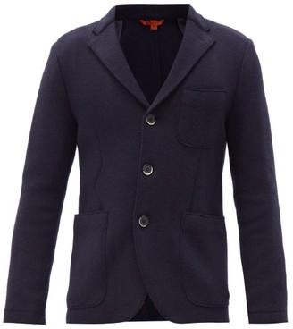 Barena Slanega Single-breasted Wool-blend Blazer - Navy