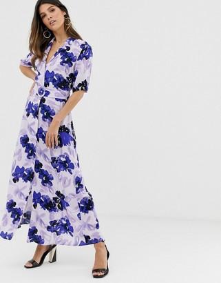 Y.A.S floral shirt maxi dress