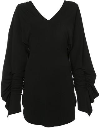 Paula Knorr V-neck flared dress