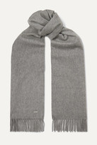 Thumbnail for your product : Loro Piana Sciarpa Fringed Cashmere Scarf - Gray