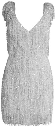 Naeem Khan Sleeveless Sequin Cocktail Dress
