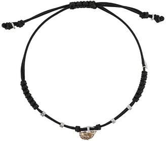 Pippo Perez 18kt white gold skull friendship bracelet
