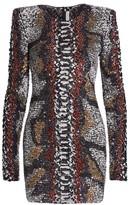 Naeem Khan Python-Print Bodycon Dress