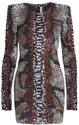 Naeem Khan Embellished Bodycon Dress