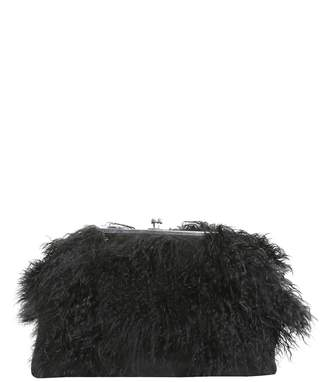 DSQUARED2 CLUTCH WITH MONGOLIAN FUR INSERTS