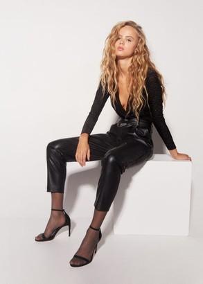 MANGO Ankle-cuff sandals black - 7A - Women