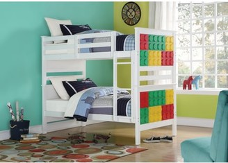 ACME Furniture ACME Playground Twin Over Twin Bunk Bed in Multi-Color