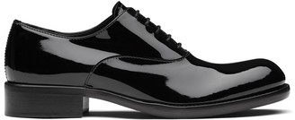 Prada square-toe Oxford shoes