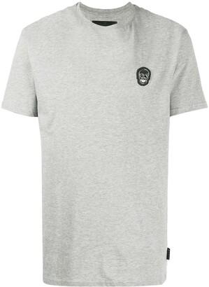 Philipp Plein skull patch round neck T-shirt