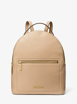 MICHAEL Michael Kors MK Jessa Medium Leather Convertible Backpack - Bisque - Michael Kors