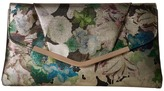 Jessica McClintock Arielle Metallic Floral Large Envelope Clutch Clutch Handbags