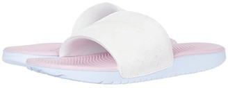 Nike Kids Kawa Slide SE Glow (Little Kid/Big Kid) (Summit White/White/Pink/Hydrogen Blue) Kids Shoes