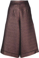 Ultràchic - flared cropped trousers - women - Cotton/Polyamide/Polyester/other fibers - 40