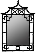 The Well Appointed House Lacquered Black Pagoda Bamboo Mirror - CURRENTLY ON BACKORDER UNTIL LATE DECEMBER