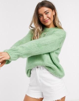 ASOS DESIGN chunky sweater in green