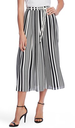 Vince Camuto Variegated Graphic Stripe Print Rope Skirt