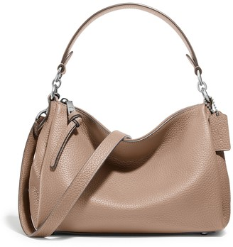 Coach Shay Taupe Leather Cross-body Bag