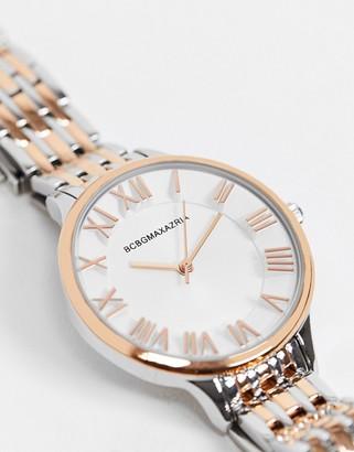 BCBGMAXAZRIA bracelet watch with two tone detail