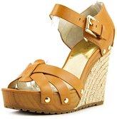 MICHAEL Michael Kors Somerly Wedge Women US 9 Brown Wedge Sandal