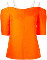 Maison Rabih Kayrouz double strap top - women - Silk/Polyester - 36