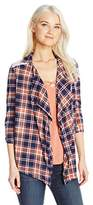 Self Esteem Women's Patriot Blue Plaid 2 Fer Top