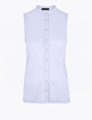 Marks and Spencer Jersey Longline Sleeveless Shirt